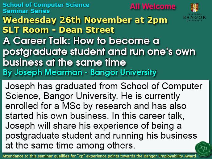 Seminar 26th November