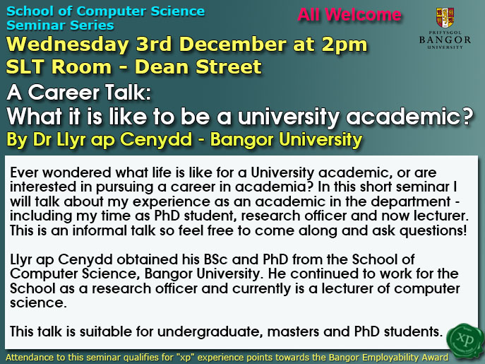 Seminar 3rd December
